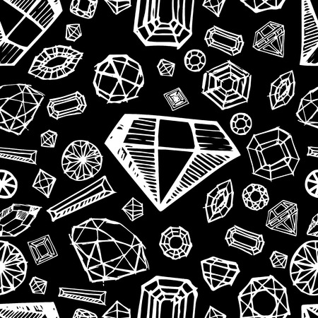bijou: Vector seamless pattern with diamond design elements - cutting samples