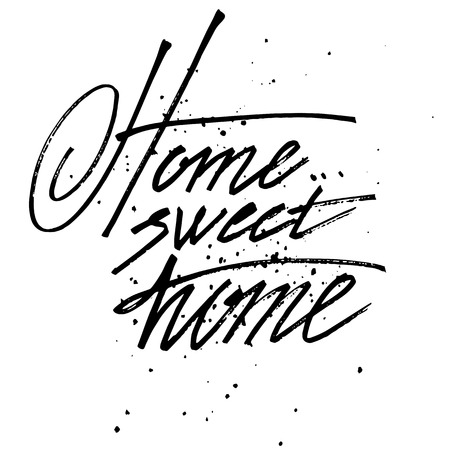 sweet: Vector sign - handmade calligraphy Home.. sweet home