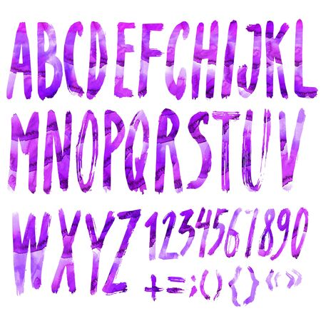 roman alphabet: Handmade Roman alphabet - watercolor