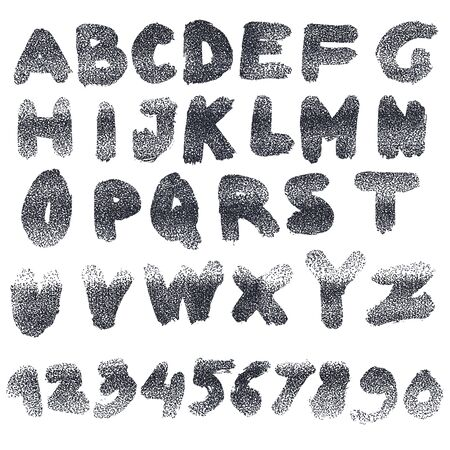 roman alphabet: Handmade Roman alphabet - drawn by ink and brush