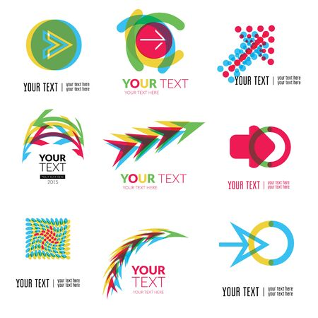 Vector set of modern abstract forms  - colorful design