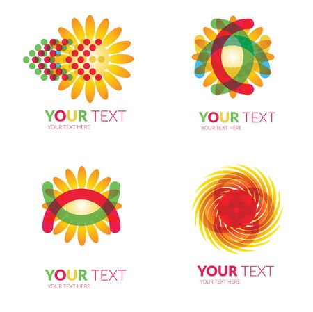 circul: Vector set of modern sun forms  -  colorful design Illustration