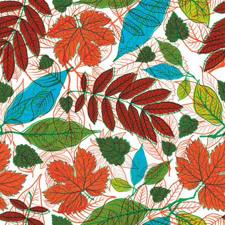 botanics: Vector seamless floral pattern with leafs