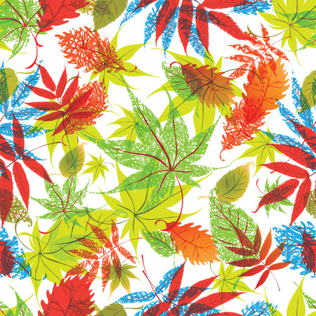 seamless floral: Vector seamless floral pattern with leafs