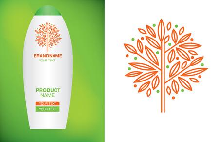 natural logo: Vector design elements for organic natural logo