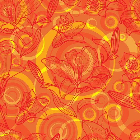 seamless floral: Vector seamless floral pattern