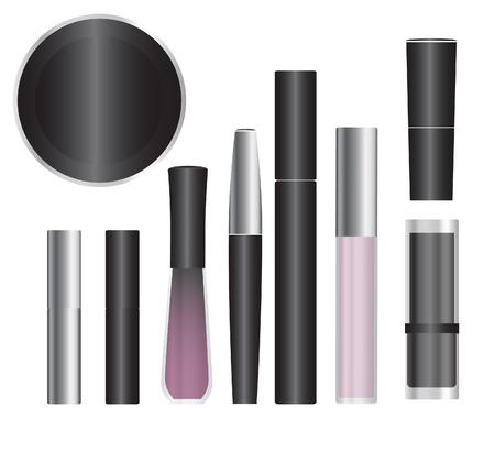 cosmeticos: Conjunto de paquetes de vector cosméticos muestras para el diseño de productos