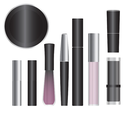 cosmetics products: Set of vector cosmetic packages samples for product design