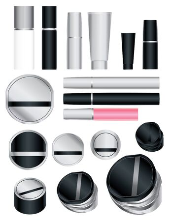 rouge: Set of cosmetic packages samples for product design