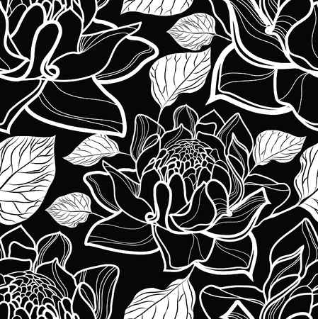 botanics: Seamless floral pattern with roses