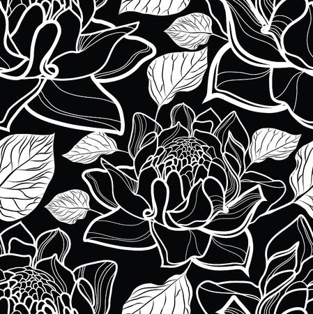 motif floral: Seamless motif floral avec des roses