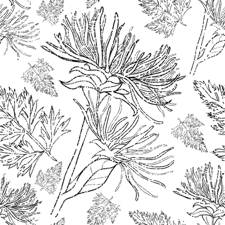grunge pattern: Seamless vector floral grunge pattern (From my big Seamless collection)