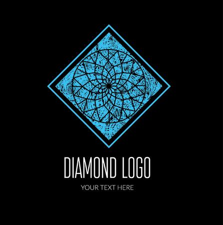 diamond stones: Vector modern diamond logo -  colorful design