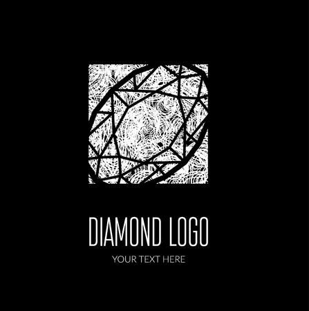 faceting: Vector modern diamond logo -  colorful design