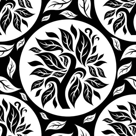 tile pattern: seamless floral pattern with tree