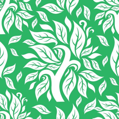 botanics: seamless floral pattern with tree