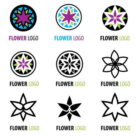 elements of nature: Vector set of design elements - floral logos