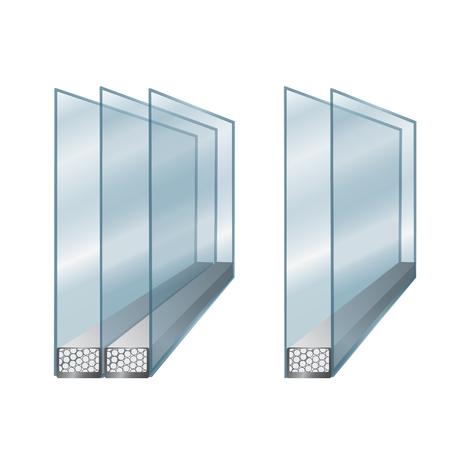 illustration technique avec un élément de la fenêtre - verre
