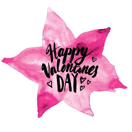graft:  calligraphy sign - Saint Valentines Day Illustration
