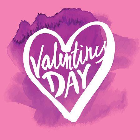 graft: calligraphy sign - Saint Valentines Day