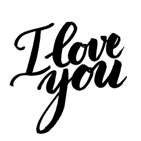 graft: Vector handwritten calligraphy sign - I LOVE YOU