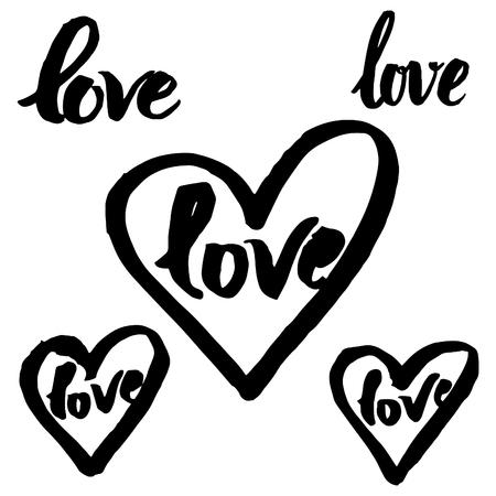 graft: Vector handwritten calligraphy sign - LOVE
