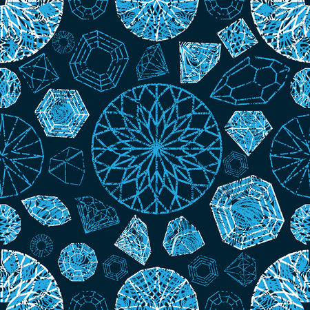 Vector naadloos patroon van de elementen van het diamantontwerp