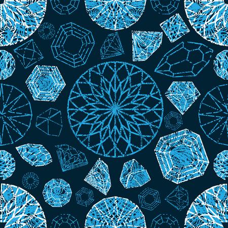 Vektor nahtlose Muster von Diamant-Design-Elemente