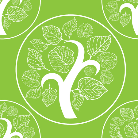 logo nature: Vector seamless floral pattern, freehand drawing - flowers and leafs Illustration