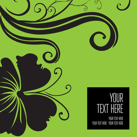 be green: Vector stylish green floral background - design elements can be used for invitation, greeting cards