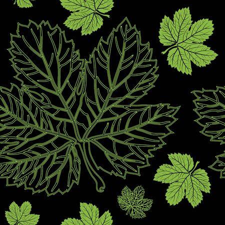 hojas secas: Sin fisuras vector de las hojas de otoño. Acción de gracias Vectores