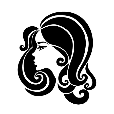 Illustration of woman with beautiful hair Illustration