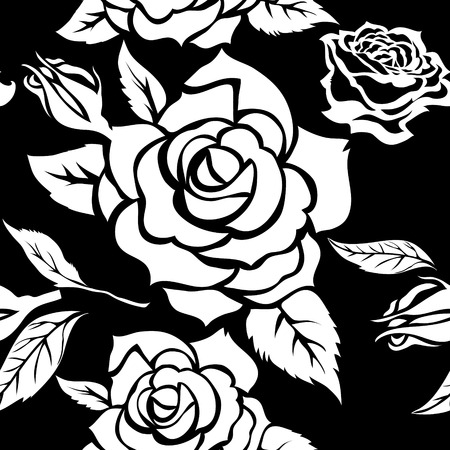 seamless floral: Vector seamless floral pattern from roses Illustration