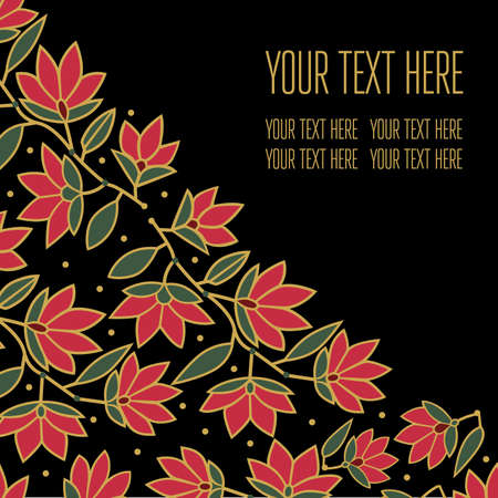Vector stylish floral background - design elements can be used for invitation, greeting cards Illustration