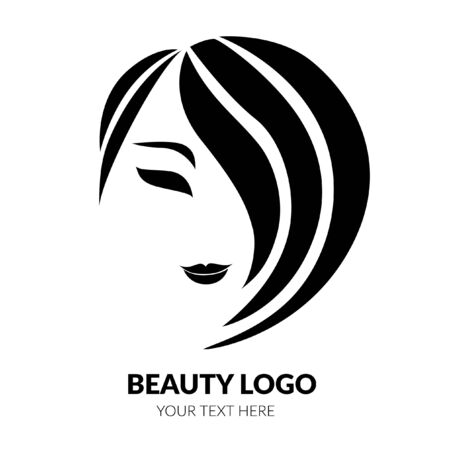 Vector illustration of woman with beautiful hair - can be used as a logo for beauty salon. Fashion. Beauty. Style logo Illustration