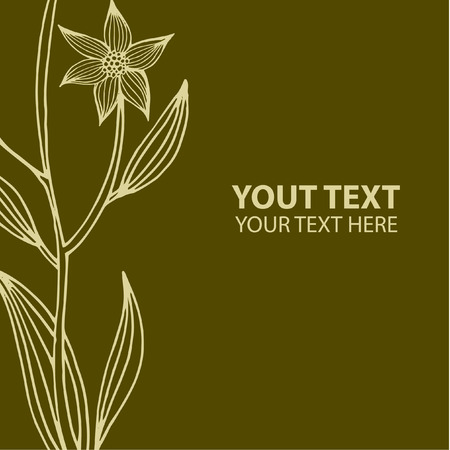 Vector stylish vintage floral background - design elements can be used for invitation, greeting cards. Illustration