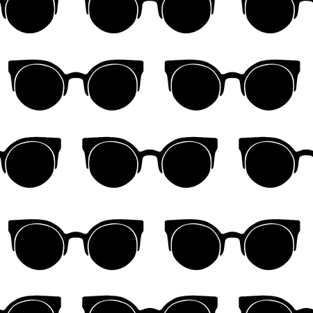 Vector seamless pattern from stylish glasses. Fashion illustration background. Banque d'images - 112002608
