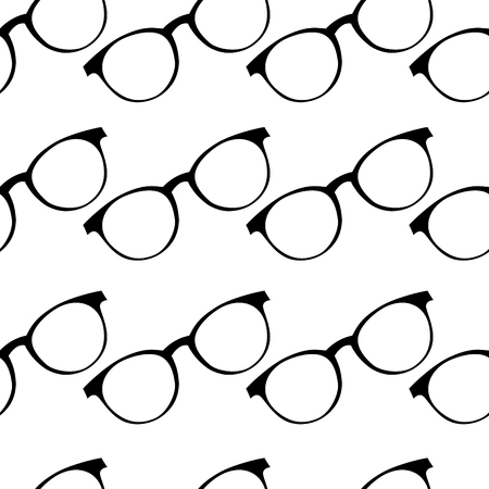 Vector seamless pattern from stylish glasses. Fashion illustration background. Banque d'images - 112002610