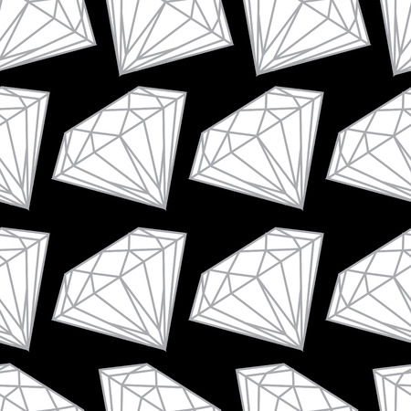 Vector seamless pattern from diamond design elements