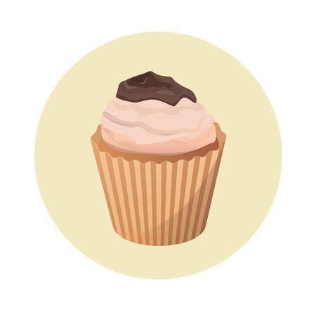cupcake vector illustration Illusztráció