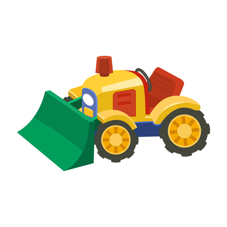 Flat tractor on white background.Agricultural tractor - transport for farm in flat style Illustration