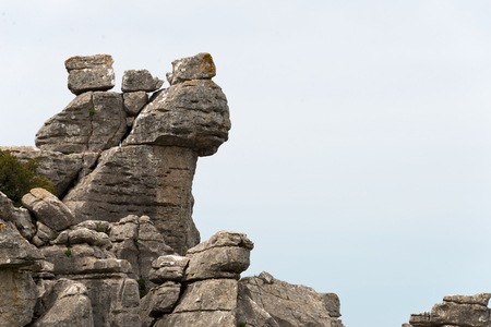 karst formation in torcal national park, andalusia, spain 写真素材