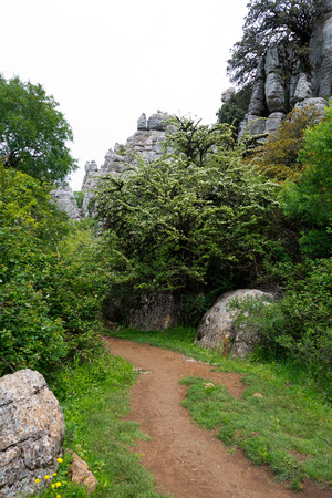 karst formation in torcal national park, andalusia, spain Stock Photo