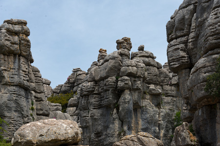 karst formation in torcal national park, andalusia, spain Stok Fotoğraf