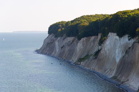 mecklenburg western pomerania: chalk cliffs of ruegen, germany