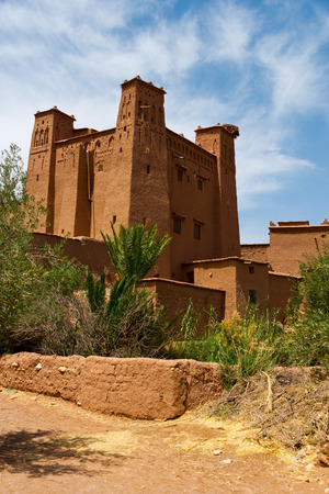 clay buildings in moroccan berber fortress Aït Benhaddou