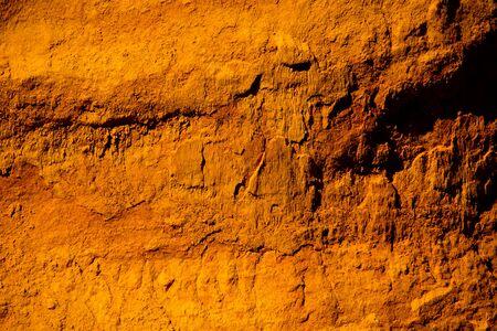 ochre rocks in roussillon, provence, france