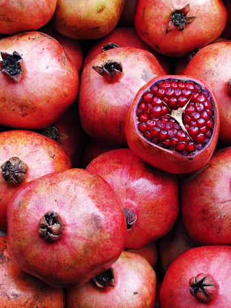a pomegranate: Pomegranate Stock Photo