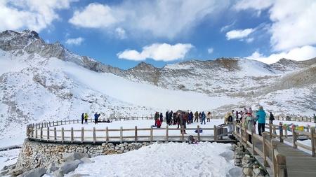 snow-covered high mountain, Dagu Pingchuan ,Chengdu,Sichuan province, China.