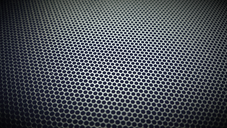 metallic mesh part of microphone and loudspeaker. background,texture,dot ( photo intended : retro style,blur, black border) Reklamní fotografie